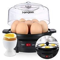 Homgeek Eierkocher Edelstahl mit Warmhaltefunktion, für 1-7 Eier