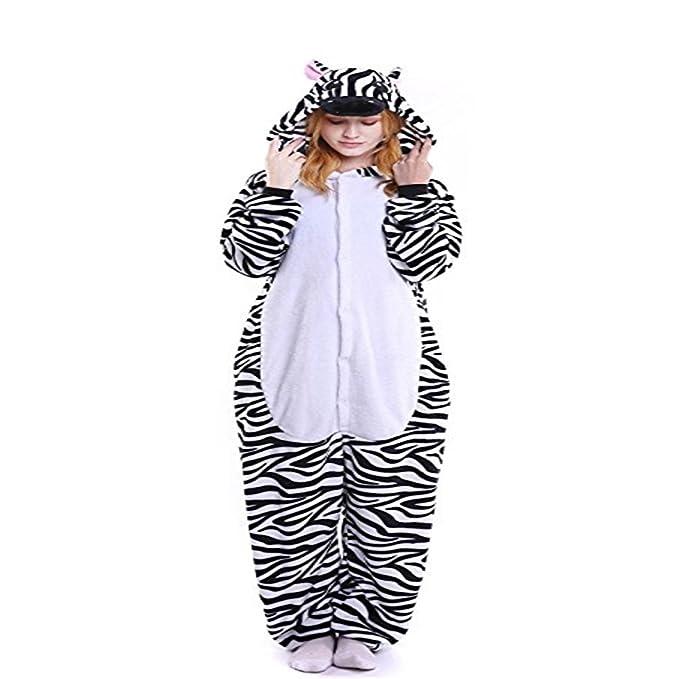 Oudan Sleeper Costume Combinación Pijama Mujer Animal Cebra Cosplay Traje Noche Cálido Invierno Unisex: Amazon.es: Ropa y accesorios