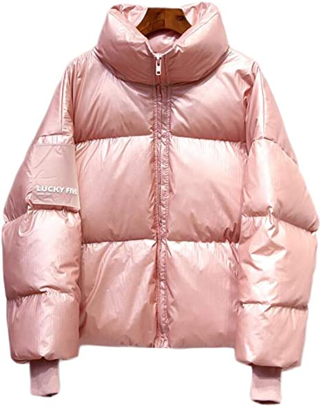 manteau brillant rose femme