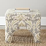 Safavieh Mercer Collection Grant Ottoman, Light Grey
