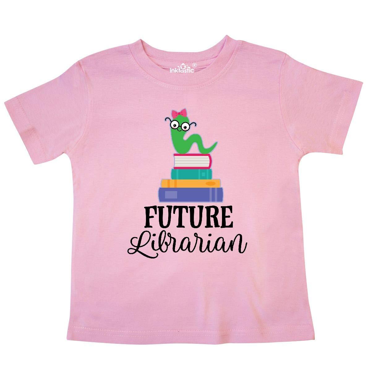 inktastic Future Librarian Girls Reading Job Toddler T-Shirt