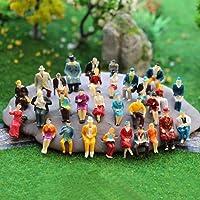 MEJOSER 100pcs Figura Persona Miniatura Humana Sentada
