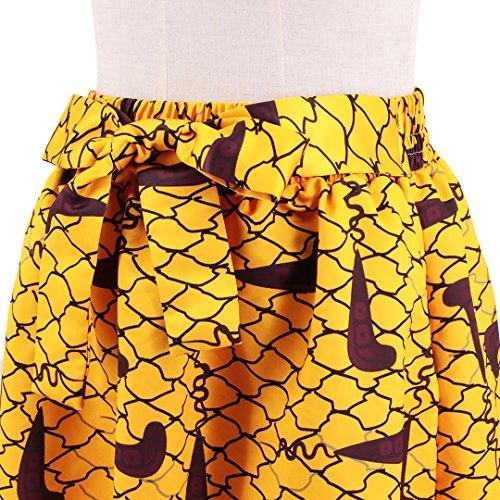 Novias Boutique - Falda - para mujer Yellow Geometric 2 X-Large