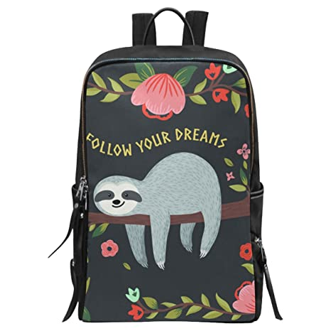 41c0aafcd22e Amazon.com: InterestPrint Wildlife Animal Sloth School Casual Travel ...