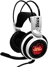 Fone de Ouvido Headset Gamer P2 Cabo 2,2M Knup Branco