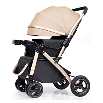 Amazon.com : 4 Rounds Baby Stroller can Sit and Lie Down Aluminum ...