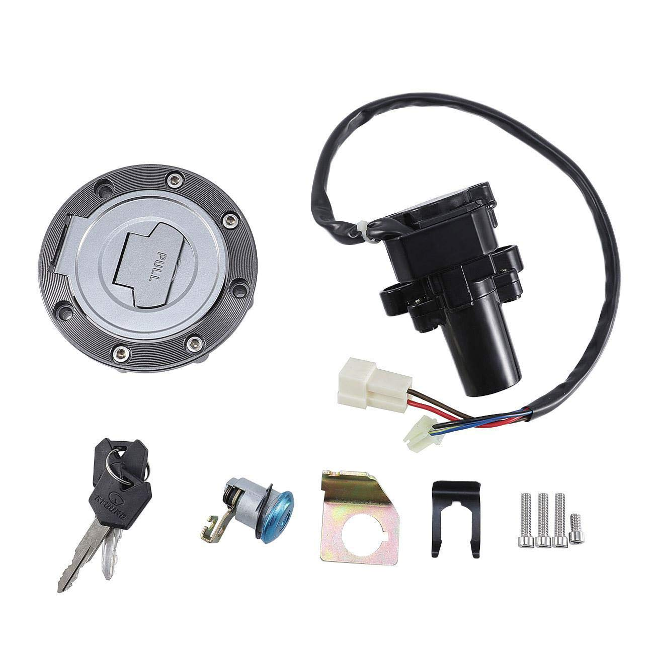 TOPAUP Ignition Switch Keys Lock Cylinder Yamaha Kit Gas Cap Cover Bracket FJR1300 2001-2005 YZF R6 2004 2006-2011 R6S FZ6 2004-2005
