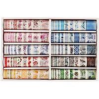 Dizdkizd 100 Rolls Washi Tape Set with 6 Sizes 5/8/10/15/20/30mm Wide Washi Masking Adhesive Decorative Holiday Craft…