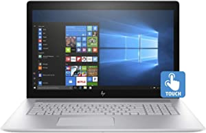 "HP Envy 17t Touch Screen 17.3"" Full HD Laptop - 8th Gen Intel Core i7-8550U Processor up to 4.0 GHz, 32GB Memory, 1TB SSD, 4GB NVIDIA GeForce MX150 Graphics, DVD Burner, Windows 10 Pro (Renewed)"
