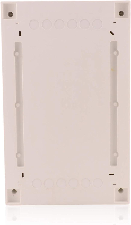Caja de fusibles de 1 fila para 12 m/ódulos montados en superficie con puerta transparente de carril DIN IP40 para la instalaci/ón de la habitaci/ón seca en la casa