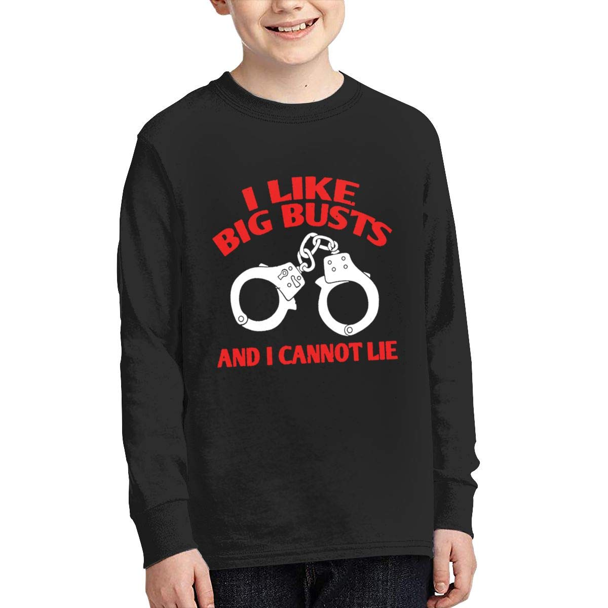 Qiop Nee I Like Big Busts and I Cannot Lie Long Sleeves Shirt for Girls