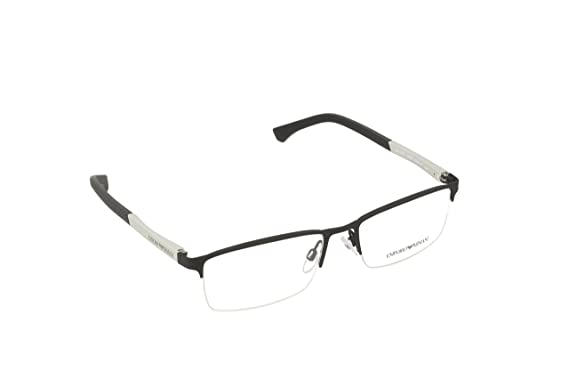 cd7df05cb Armani EA1041 Eyeglass Frames 3094-55 - Black Rubber at Amazon Men's ...