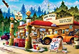 Buffalo Games Cartoon World - Pine Road Service - 1000 Piece Jigsaw Puzzle