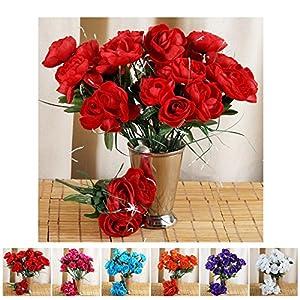 Efavormart 84 pcs Artificial Camellia Flowers for Wedding Arrangements Decor - 12 Bushes 99
