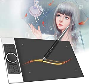Graphics Tablets XP-Pen Deco Pro Medium 11.6 Inch Drawing Tablets with 8192 Levels Pressure Battery-Free Stylus Digital Drawing Pen Tablets 8 Shortkeys Support Windows Mac OS Android for Art Design