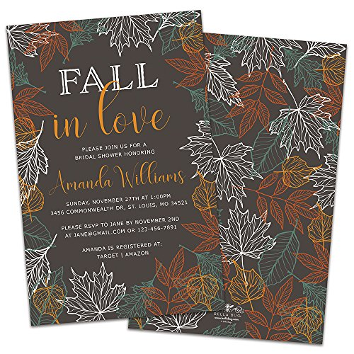 Fall in Love Personalized Bridal Shower Invitations