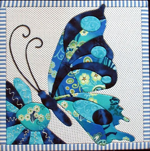 Artsi2 A2LBTTRFLY Large Butterfly Wall Hanging - No Sew Quilt