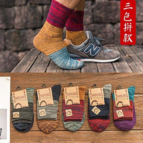 Los calcetines hombre calcetines de algodón de primavera y verano los calcetines del hombre desodorante bajo ayuda barco Cotton Socks calcetines calcetines calcetines deportivos de hombres lucha tricolor dinero Excellent Product