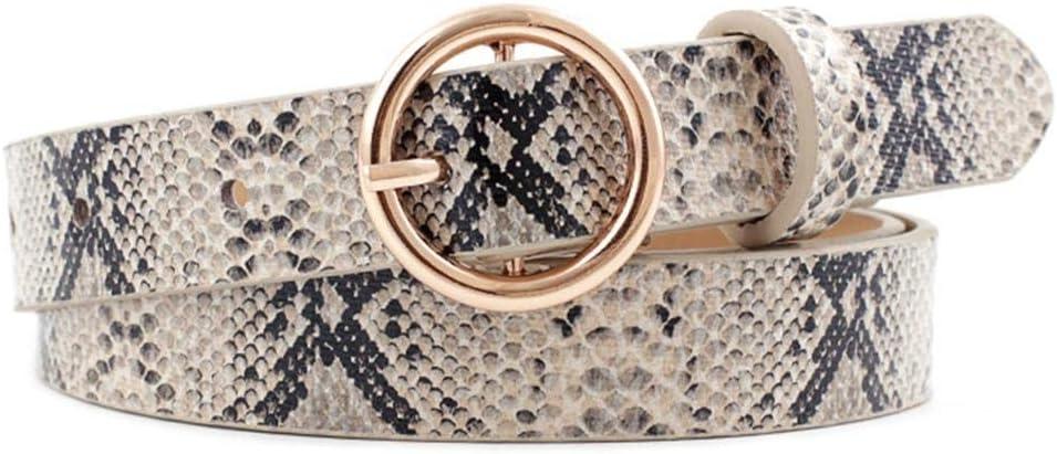 yummyfood Cinturones De Cuero para Mujer Cinturones De Cintura con Estampado De Leopardo Clásicos para Faldas De Mezclilla Chaquetas Vestidos