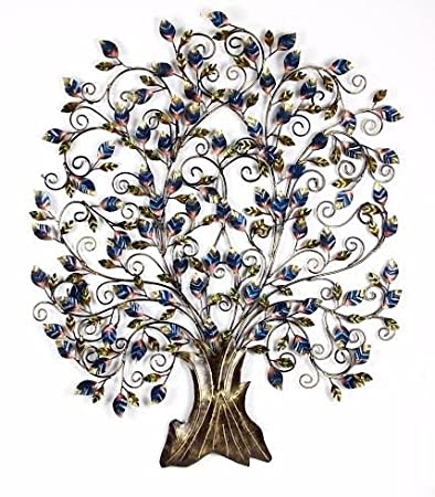 Buy shivay arts contemporary foldable metal tree wall decor wall
