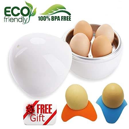COCEDOR huevos microondas - Egg cooker Hard & Soft Maker, 4 huevos ...