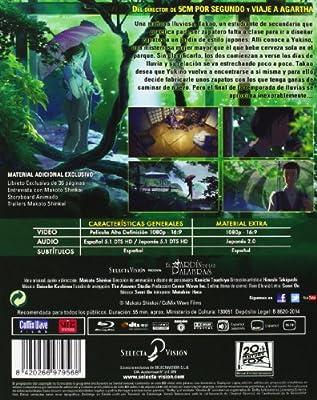 El Jardin De Las Palabras - Cb,Libro [Blu-ray]: Amazon.es: Animación, Makoto Shinkai, Animación, N/A: Cine y Series TV