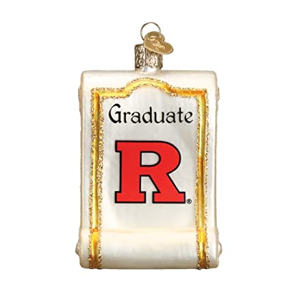 Old World Christmas Texas Tech University Diploma Glass Blown Ornament