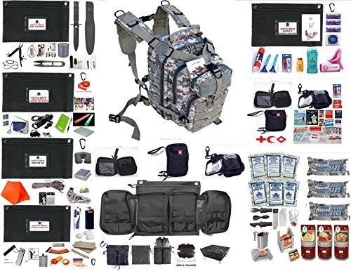 EDOG Women's Emergency Preparedness Disaster 72 Hr Backpack & Modules | Food & Water | Shelter | Fire Starting | Tool & Repair | First Aid | Signaling & Radiio | Hygiene & Sanitation (ACU, WOMEN'S) by EDOG