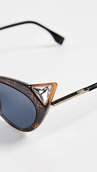 Fendi Womens Logo Cat Eye Sunglasses