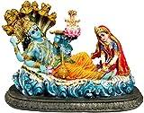 "Krishna Culture Ranganatha Vishnu Laxmi Brahma Narayana 5.5"" Statue Figurine Lakshmi Idol Golu Doll"