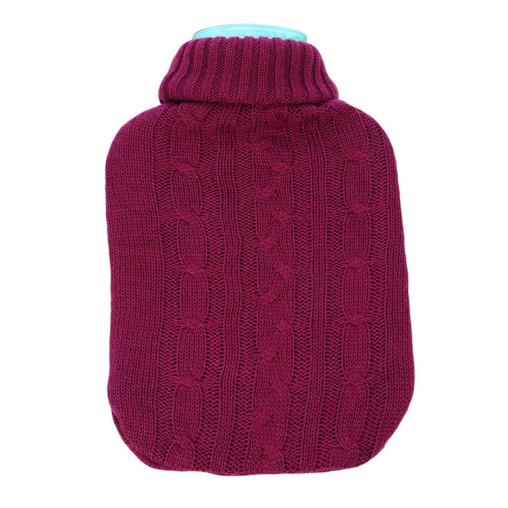 PROKTH 2000ml Bolsa de Agua Caliente para Invierno y otoño - Bolsa termica de Agua para Mujer, Hombre y niño - Acrílico - Blanco - 1pcs