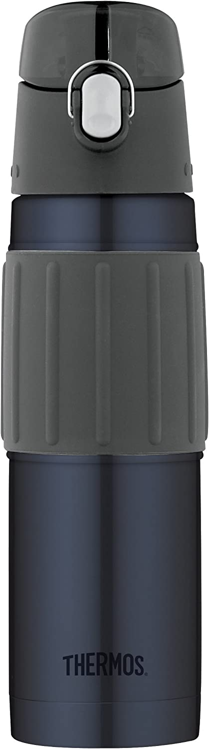 Thermos Vacuum Insulated 18 Ounce Stainless Steel Hydration Bottle, Midnight Blue