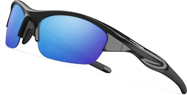 TOREGE Tr90 Flexible Kids Sports Sunglasses Polarized Glasses for Junior Boys Girls Age 3-6 TR041