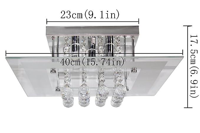Kristall Kronleuchter Putzen ~ Acelectronic top modern flushmount kristall deckenleuchte