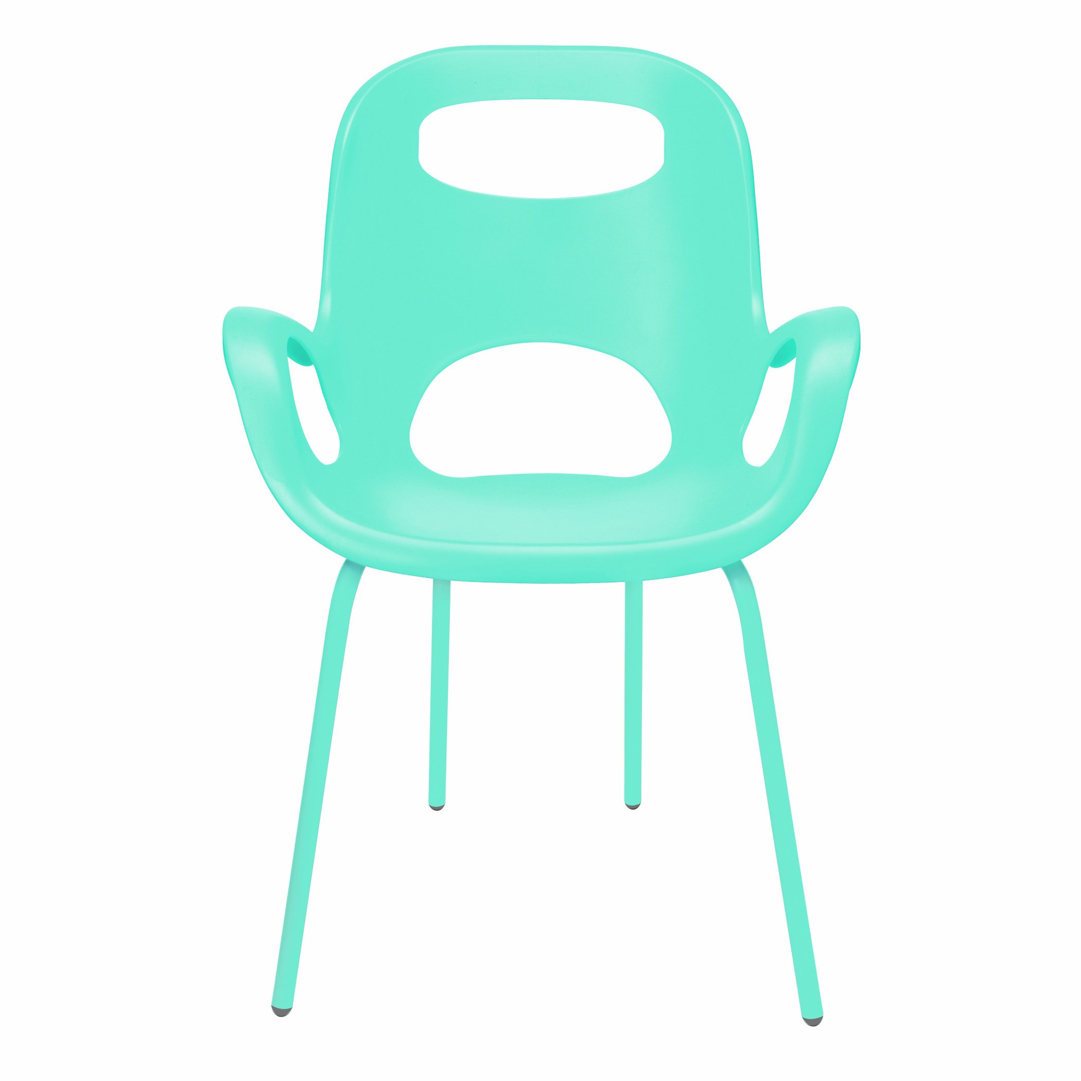 Umbra Oh Chair, Comfortable Seating Indoors and Outdoors, Weather-Resistant, Surf Blue