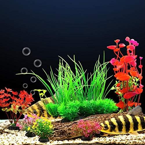 Plantas artificiales para decoraciones para acuarios 8