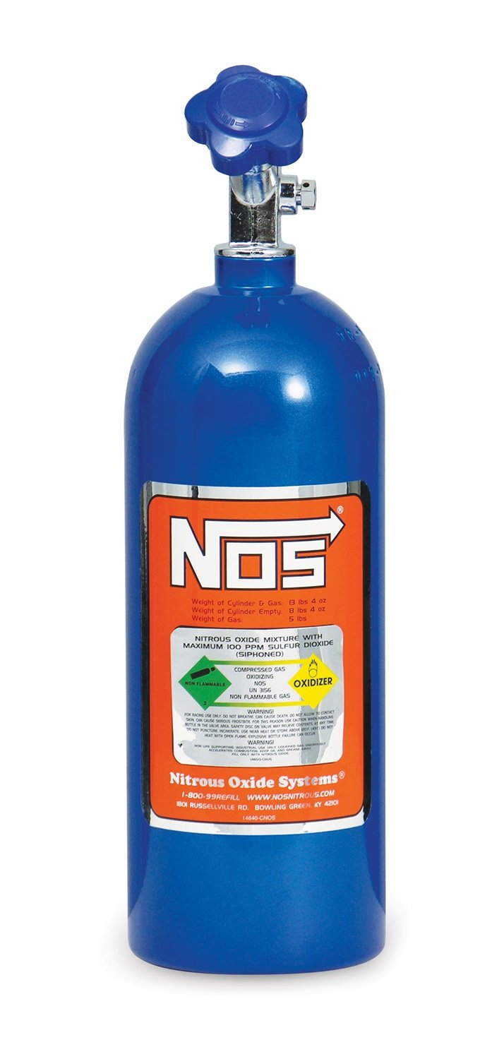 NOS 14730NOS Blue Aluminum 5-pound Nitrous Bottle