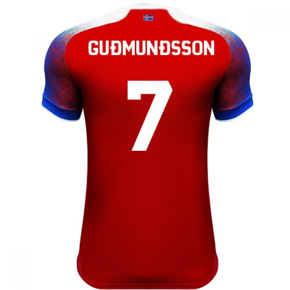 2018-2019 Iceland Third Errea Football Soccer T-Shirt Trikot (Johann Berg Gudmundsson 7)