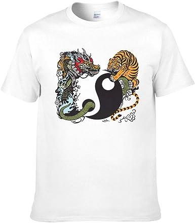Dragon Tiger Tai Chi - Camiseta divertida para hombre, diseño de dragón: Amazon.es: Ropa y accesorios