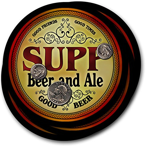 Supp Beer & Ale - 4 pack Drink Coasters