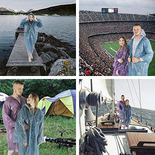 Rain Poncho - Rain Ponchos for Women Men Adults Teens - Disposable Rain Coat - Lightweight Rain Poncho - Emergency Rain Coat - Disposable Emergency Poncho - Rain Poncho Pack - Womens Mens Rain Poncho