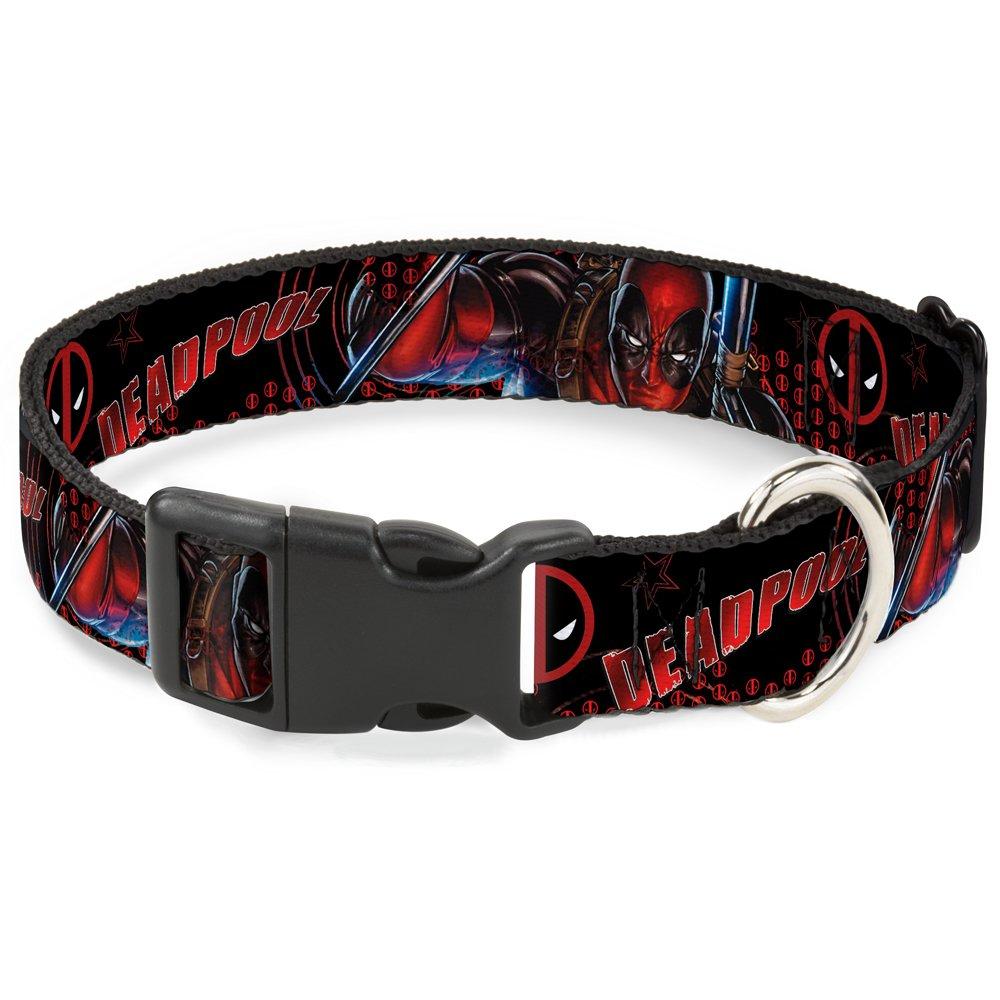 1 2\ Buckle-Down Deadpool Action Pose Logo2  Breakaway Cat Collar, 1 2  x 6-9  Small