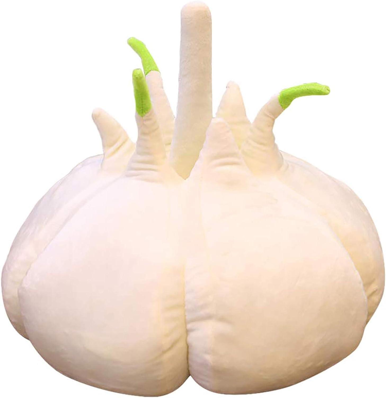 3D Simulation Garlic Shape Plush Pillow,Cute Funny Body Pillow Cushion Plush Toy Funny Food Plush Stuffed Garlic-Shaped Toy for Home Decor Gift