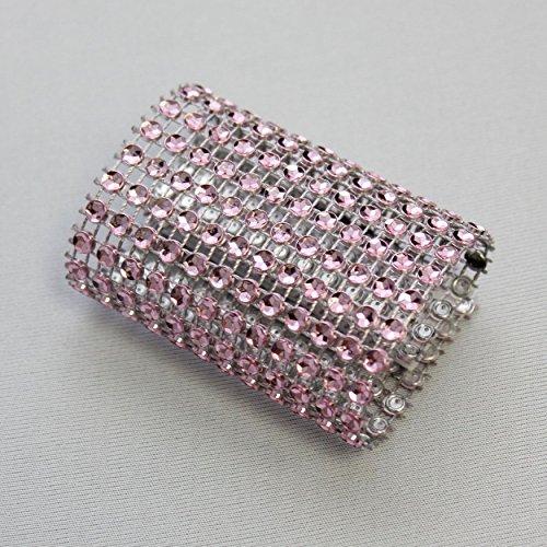 Dazzling Diamond Rhinestone Chair Sash Slips / Napkin Rings Pink