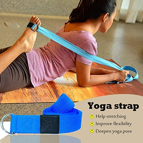 IVIM Pack de 2/Bloques de Yoga Pilates Espuma y 1/pc de cintur/ón de Yoga con D Anillo para Estirar