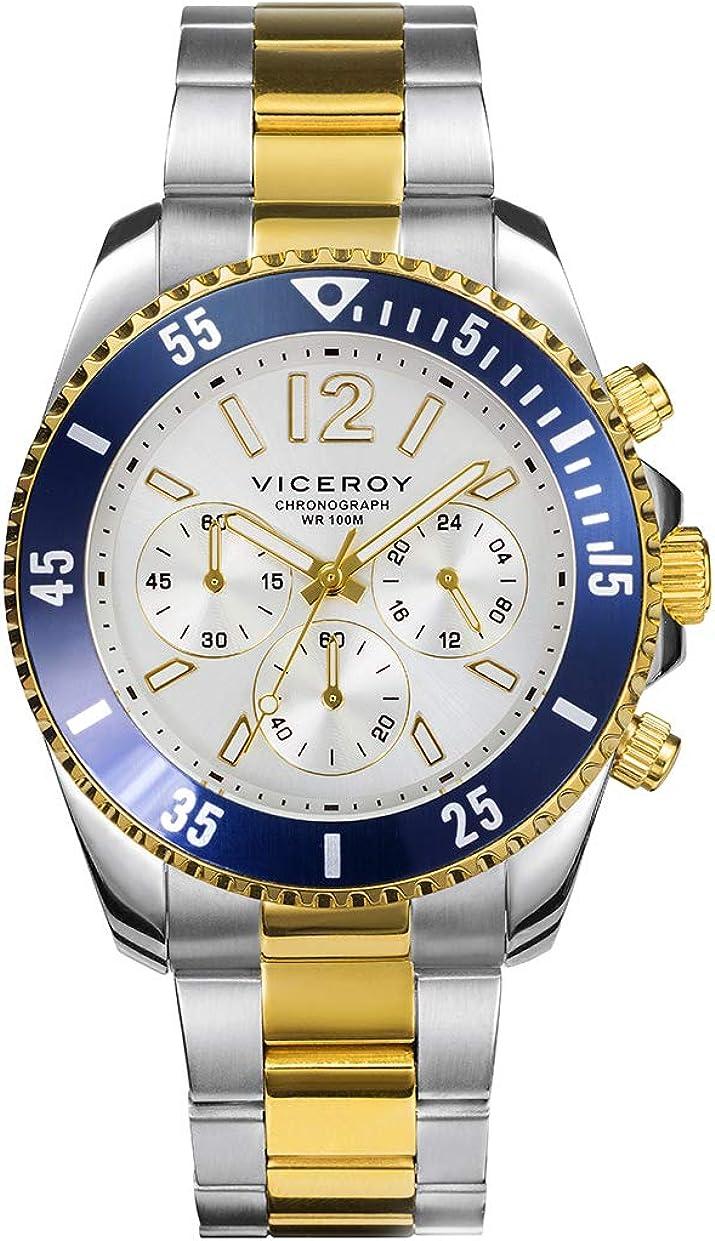 VICEROY - Crono Acero IP Dorado Brazalete Sr Va - 401225-05