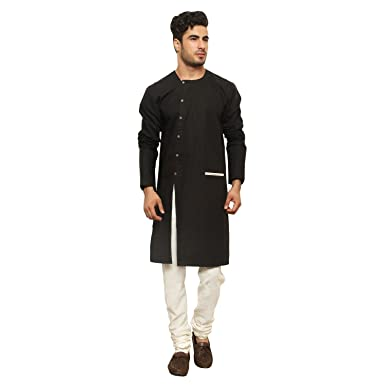 92dcf556 Color Opera Kreation Cotton Men's Solid Kurta: Amazon.in: Clothing ...
