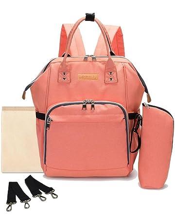 Multifunción pañal bolsa de pañales cambiador de viaje, gran capacidad mochila bolsa reutilizable, ligero