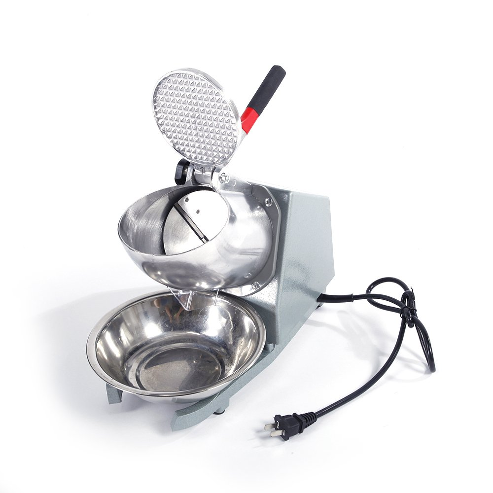 Z ZTDM Ice Shaver Machine Ice Crusher Electric Snow Cone Maker Stainless Steel Shaving Ice 143bs Per Hour (Dual Blades)