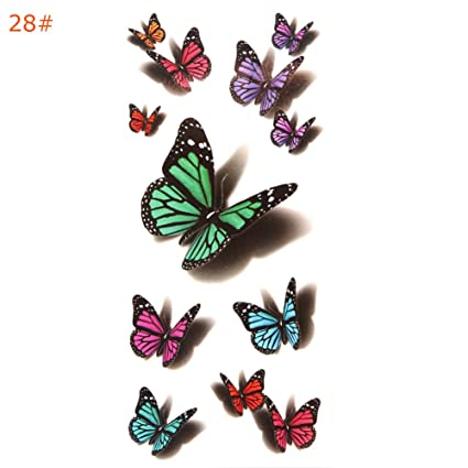 Cold Toy 10pcs mariposa volando mariposa 3d Impermeable temporales ...